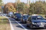 Протест таксистов в Варшаве