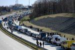 Очередь на границе Польша - Украина